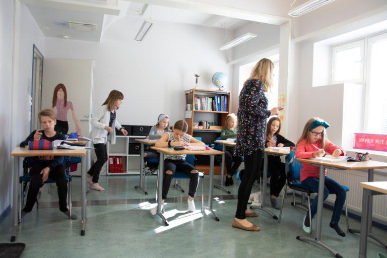 Luokkahuoneessa